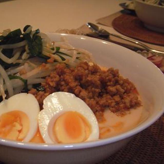 カスピ海ヨーグルトを使った冷やし坦々麺