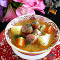 ドイツの思い出★じゃがいもとソーセージのスープ