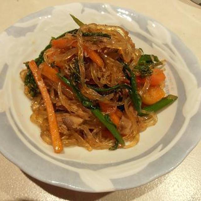 白滝でカロリーダウン 白滝のチャプチェ 簡単で美味しい副菜