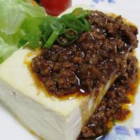 レンジグリル豆腐の肉味噌がけ<ステーキ風>