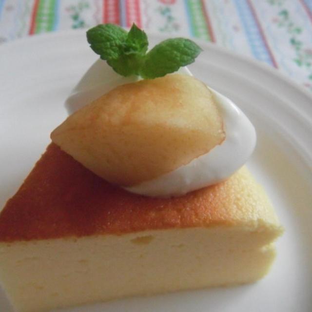 桃のスフレヨーグルトケーキ