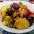 エーブリシンングベーグルシーズニングで ~ ポテトと芽キャベツの塩レモン煮