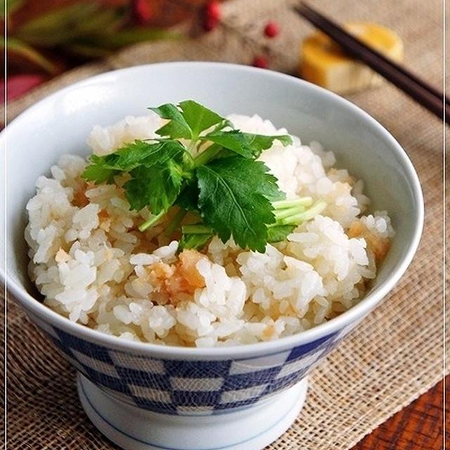 もらい物の蟹缶de簡単炊き込みご飯♪