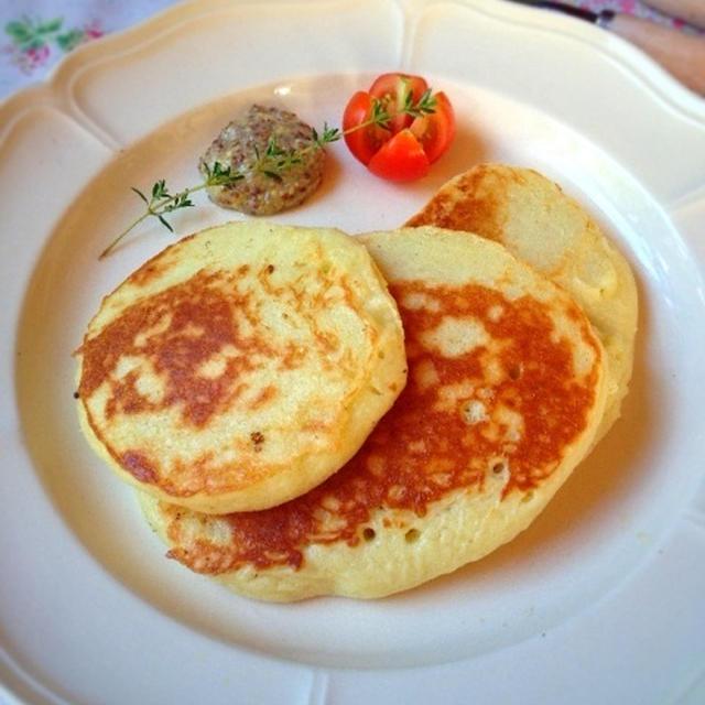 ポテトの豆乳パンケーキ〜マスタードソース添え〜【卵なし】