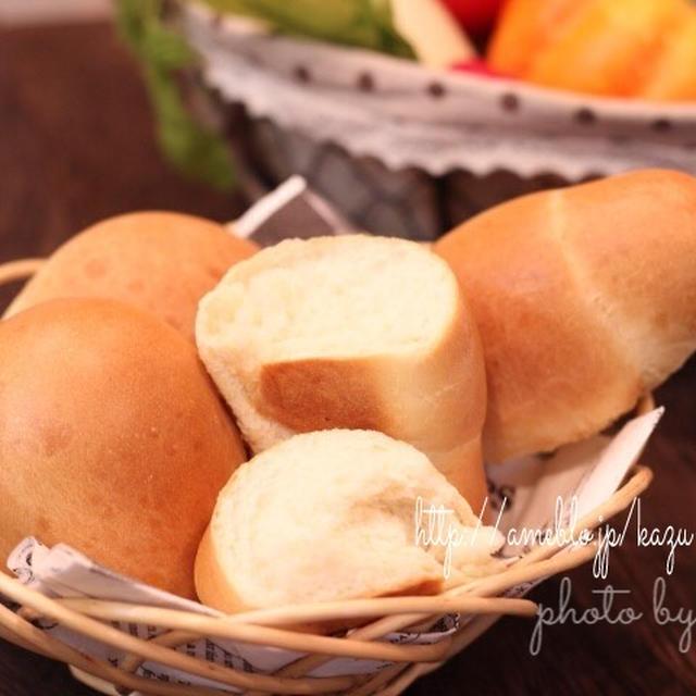 カフェパン☆レンジ発酵で簡単テーブルパン(レシピ)