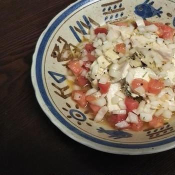鶏むね肉の香草焼き~2種のサルサソースとともに~ サルサ・デ・トマテ&サルサ・クルダ「GABAN×レシピブログ」コラボ企画