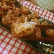 ヤギ肉のおろしポン酢ステーキ