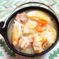参鶏湯風餅入りスープ
