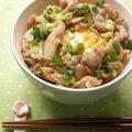 キャベツと豚肉の甘辛丼☆