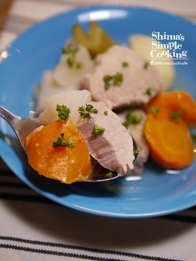 圧力鍋で簡単!シンプルだけど旨味たっぷり【豚ヒレ肉と野菜のポトフ】