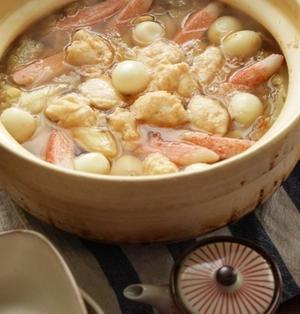 タラと海老と豆腐のすり身鍋