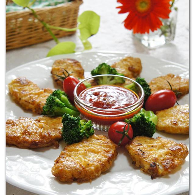 鶏むね肉のピカタ シナモン風味のイタリアンソース  アイランドさん2014年食の懇親パーティ☆