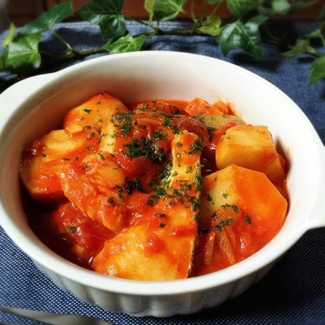 里芋活用! 里芋とタラのトマト煮