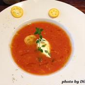 トマトとオレンジの冷たいスープ
