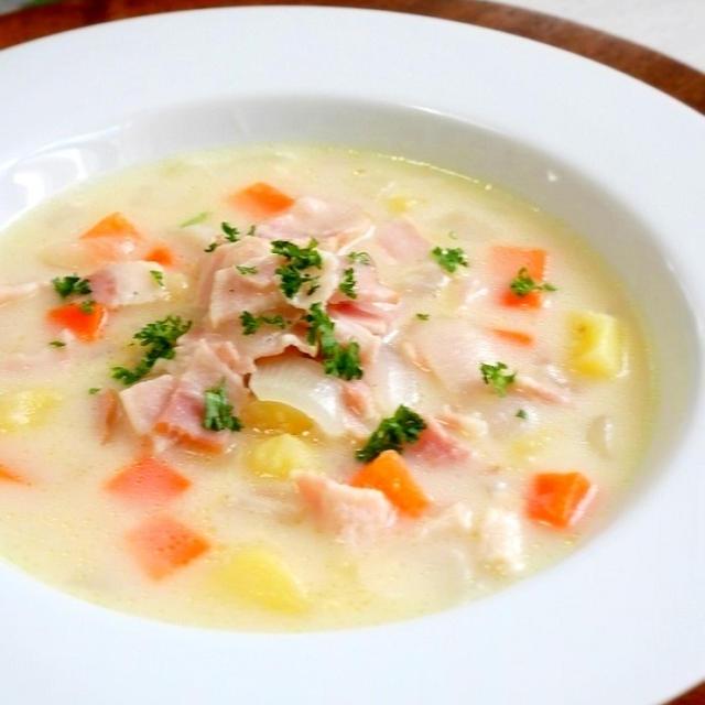ベーコンと野菜のミルクスープ
