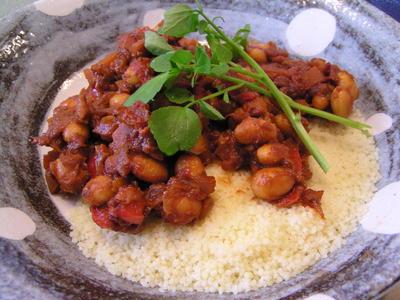 大豆の味噌トマト煮