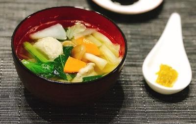 つみれ汁に母の手作り柚子胡椒を添えて〜ハングリーヘブンランチ〜美容院