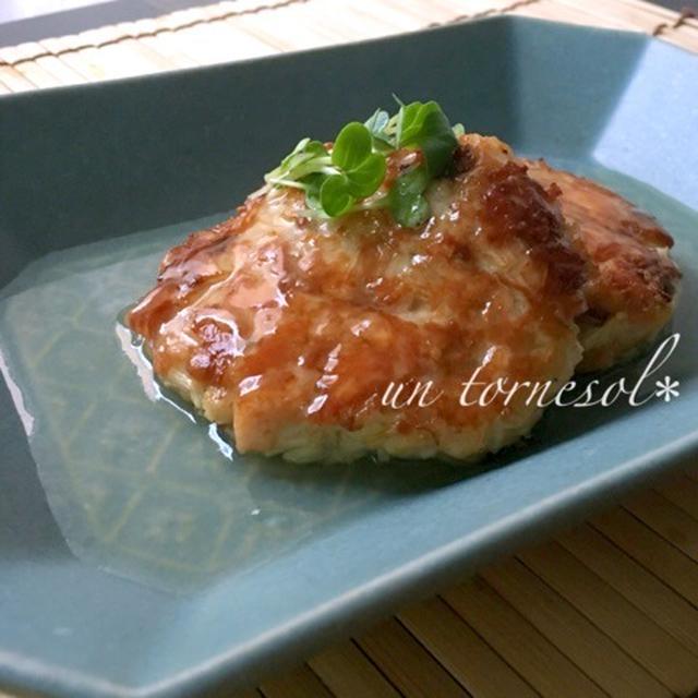 美肌効果に☆低カロリーの主婦の味方で‼︎えのき鮭ハンバーグ〜生姜あんかけ〜♡レシピ