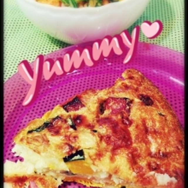野菜とベーコンの簡単キッシュ♡と鯉のぼり