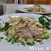 豚バラ肉と白菜の蒸し焼き