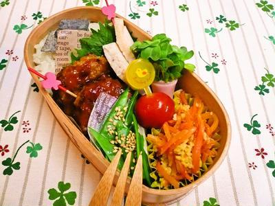 高野豆腐で肉なしハンバーグのお弁当