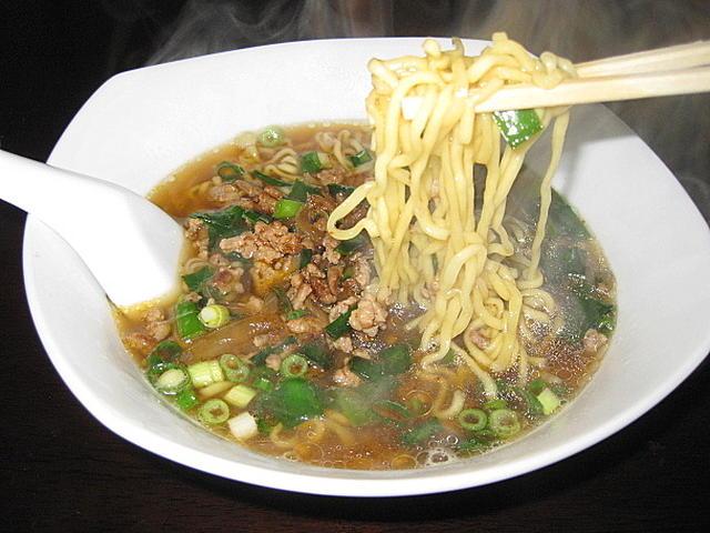 ピリ辛風味の台湾ラーメン