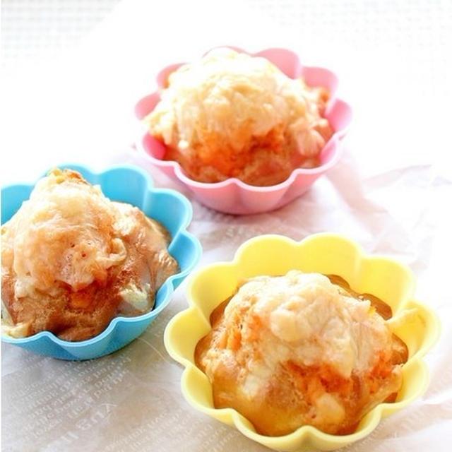 糖質オフ☆鮭とチーズのピーナッツブランパンケーキ