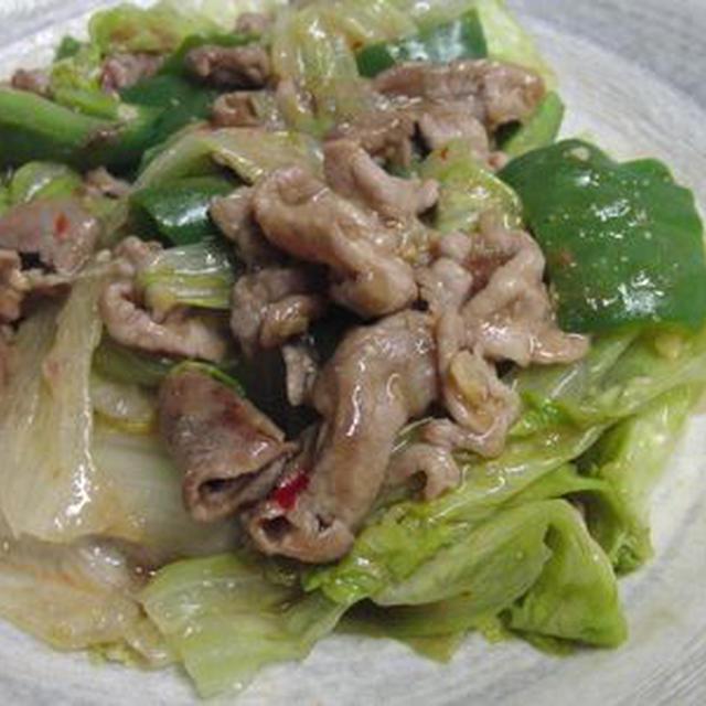 しゃきしゃきレタスの回鍋肉