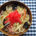 1.24 焼きうどんのお弁当とトーストでモーニングプレート^^ by YUKAさん