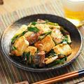 サバ缶雷豆腐、豆腐のサバニラ炒め
