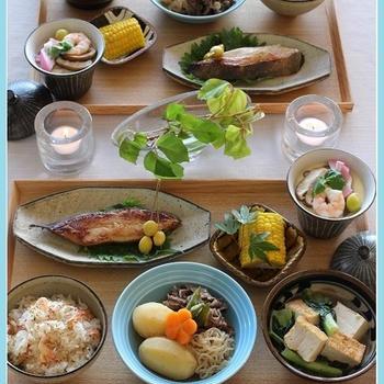 桜えびとしらすの炊き込みご飯!で、滋味和食♪