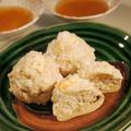 蒸すだけ♪簡単で美味しい☆ジャンボ・マッシュルームの海老しんじょ☆ by JUNOさん