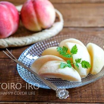 上品に食べられる!桃の皮のむき方と、今日のレシピ