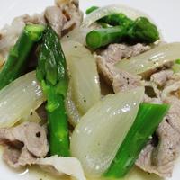 豚肉とアスパラの白ワイン煮<ハーブ風味>