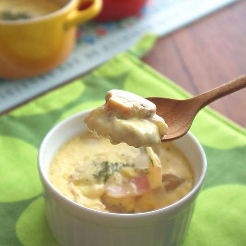 まったり濃厚♪「チーズイン茶碗蒸し」レシピアイデア