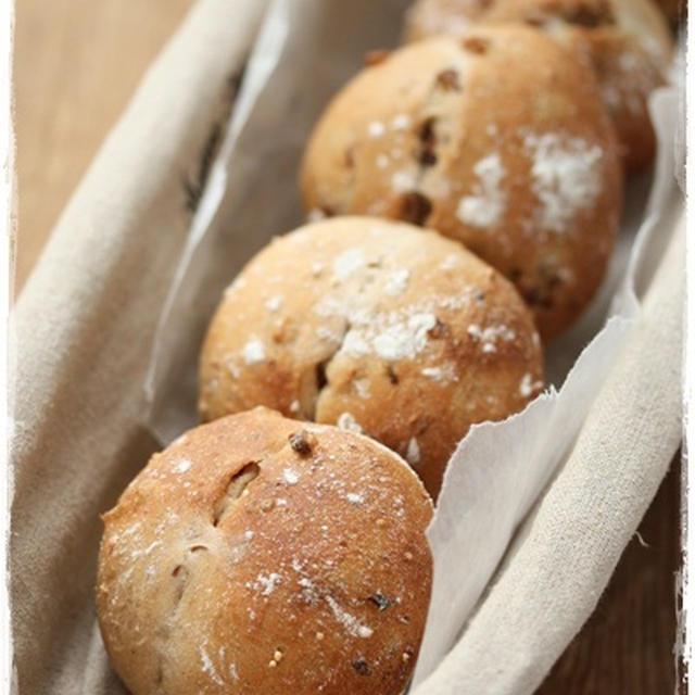 ホームベーカリーでイースト少なめ、冷蔵庫発酵パン
