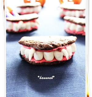 ハロウィンに♪ ドラキュラの歯型クッキー