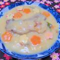 100皿シチュー 44皿目 豚スペアリブとエリンギの梅風味クリームシチュー