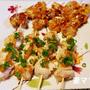 「おうち焼き鳥・2種 照り焼き&梅肉味」♪ Stick Roast Chicken