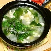 2日遅れの七草 〜おぼろ豆腐の七草小鍋
