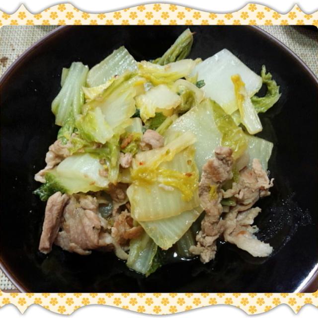 豚肉と白菜の煮浸し