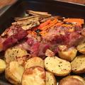 手抜きメインディッシュ。ワインのおつまみにもオススメ「豚ブロック肉と根菜のオーブン焼き」