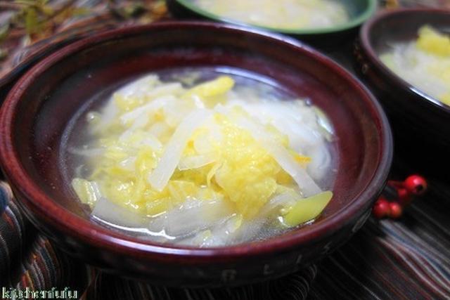 白菜と大根とお餅のスープ♪