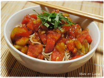 暑い日にピッタリ! 冷製トマト蕎麦