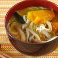かぼちゃのお味噌汁 そうめん入り (動画レシピ) by オチケロンさん