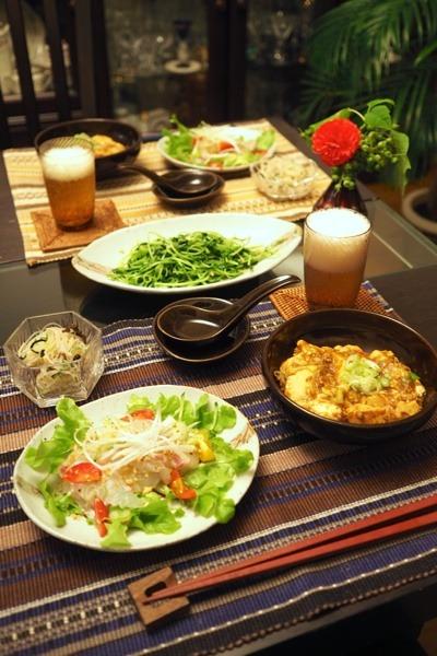 手作り麻婆豆腐&中華風お刺身等