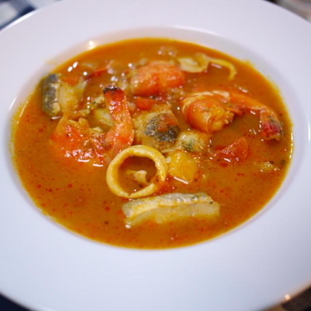 魚介のトマトスープ・ブイヤベース風