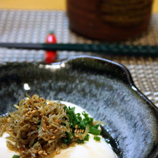カリカリじゃこ豆腐 *ごま油風味*