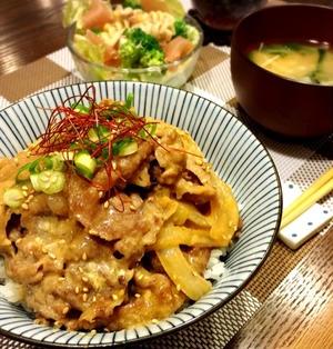 39週4日。と 男子が喜ぶガッツリ系丼♪ニンニク味噌マヨのこってり豚丼♡