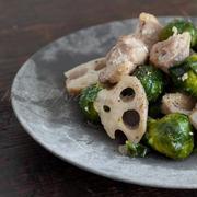 芽キャベツと鶏肉の塩麹炒め煮